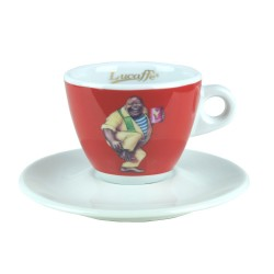 Lucaffe CappuccinoTasse Rot