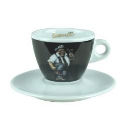 Lucaffe CappuccinoTasse Schwarz