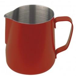 Milchkännchen mit Teflon-Perlbeschichtung rot